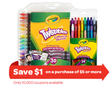 Crayola $1 Coupon