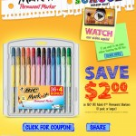 Bic Mark It Coupon