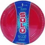 Red Solo Plates