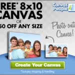 Canvas People 11&#215;14 Photo Canvas Only $15