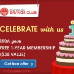 FREE Year Membership to Coupons.com Savings Club