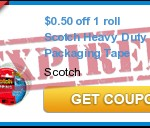 Coupon For Scotch Heavy Duty Packaging Tape