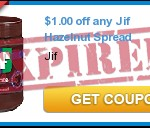 FREE Jif Hazelnut Spread With Coupon!