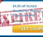 High Value Schick Quattro Razor Coupon