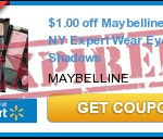 **HOT** $1/1 Maybelline NY Expert Eye Shadows Coupon