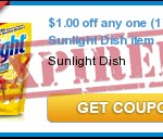 FREE Sunlight Dish Detergent After Coupon!