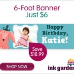 6 Foot Personalized Banner Only $6 (+ Shipping)