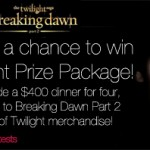 Twilight Breaking Dawn Sweepstakes