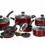 T-Fal Inspirations Red 20 Pc. Nonstick Aluminum Cookware Set $22.99