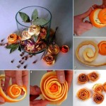 DIY Orange Rose