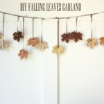 DIY Sparkling Leaves Garland