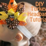 DIY: Handmade Turkey Hair Bows