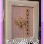 Scrabble Word Art Craft Tutorial