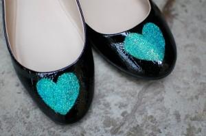 DIY Glitter Ballet Flats