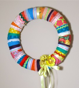 DIY Scrappy Wreath