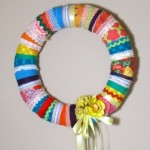Easy DIY Scrappy Wreath