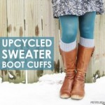 Ridiculously Easy No Sew Boot Cuff Tutorial