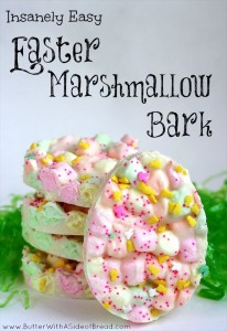 Easy Easter Marshmallow Bark