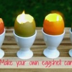 DIY Eggshell Votive Candles