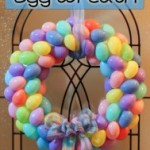 DIY Plastic Easter Egg Wreath