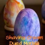 DIY Shaving Cream Dyed Marble Easter Eggs