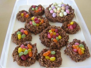 No Bake Chocolate Birds Nests