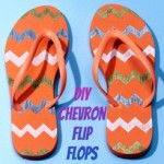 DIY Chevron Striped Flip Flops