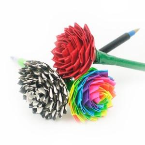 DIY Duct Tape Rose Pen Tutorial