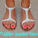 DIY Glitter Sandals Tutorial