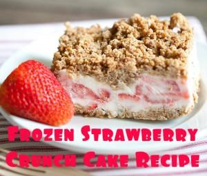 Recipe Frozen Strawberry Crunch Cake