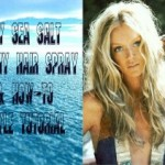 DIY Sea Salt Beachy Hair Spray  & How-To  Style Tutorial