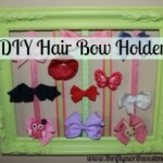 How to Make a Hair Bow Picture Frame Holder