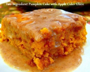 Pumpkin Cake Apple Cider Glaze