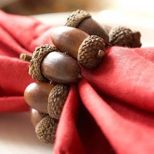 acorn napkin rings