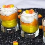Candy Corn Mousse Cups