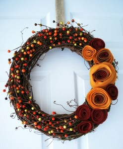 fall colorful wreath