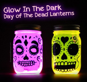 glow in the dark skull lanterns